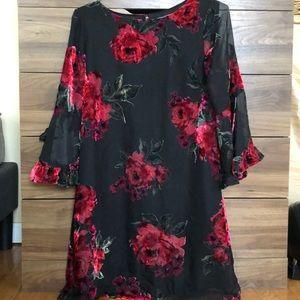 Velvet detailed Dress